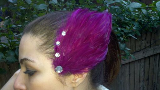 Custom Made Sale Fuschia Feather Hair Fascinator, Great For Weddings & Special Occasions, Ready To Ship