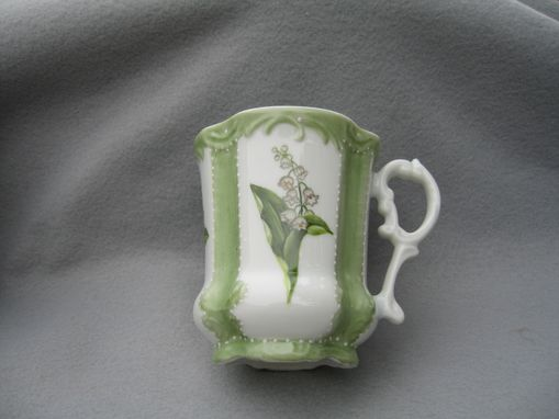 Custom Made Hand Painted Lily Of The Valley Porcelain Mug.