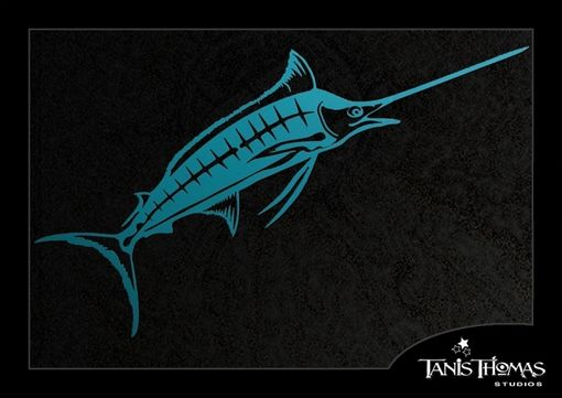 Custom Made Metal Sailfish Wall Art