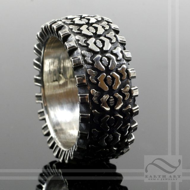 custom made off road by earth art gem jewelry custommadecom - Tire Wedding Rings