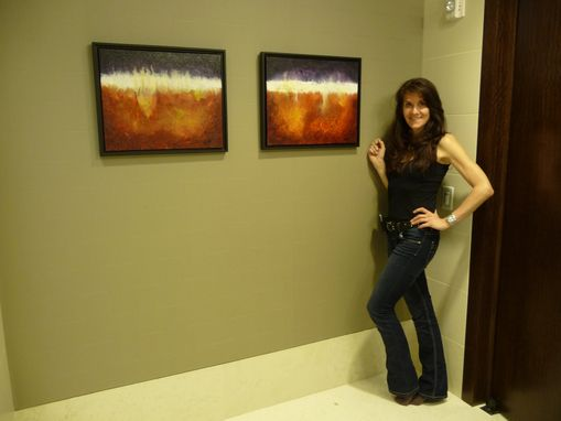 Custom Made Abstract Painting Custom Installation - 15 Paintings - Global Energy Investment Company, Houston