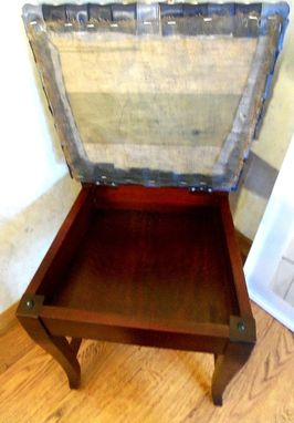 Custom Made Hand-Weaved Re-Upholstered Antique Chair