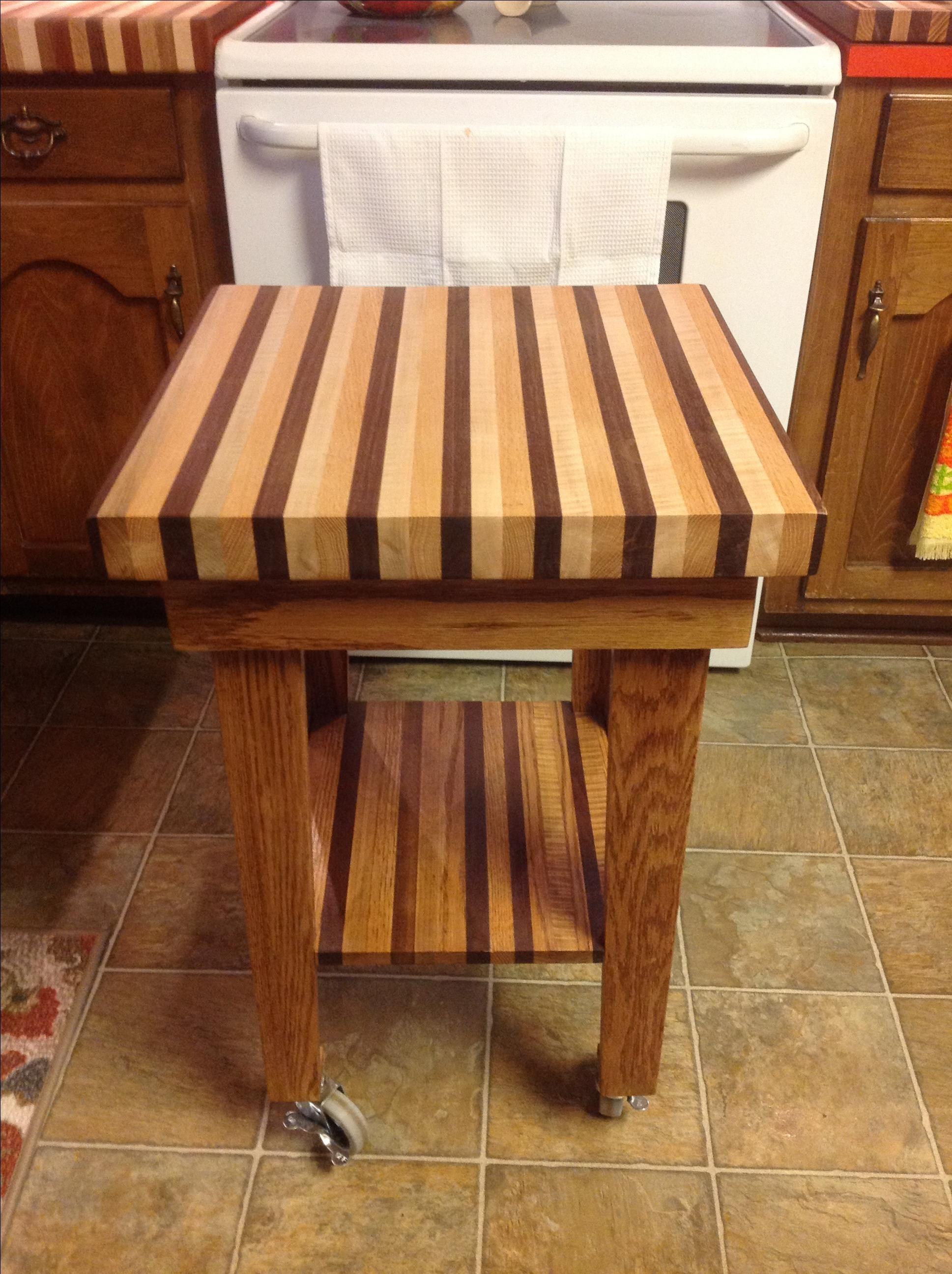 Custom Made Roll Around Cutting Board By Dale Greene Wood
