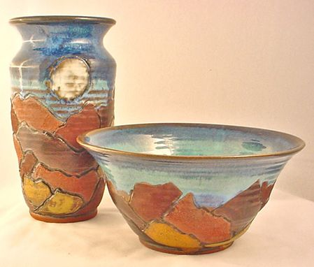 Custom Made Landscape Pottery Bowls And Vases