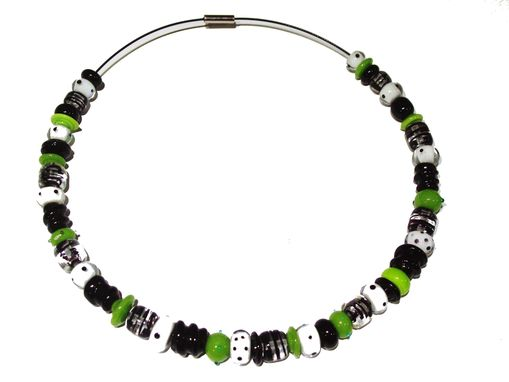 Custom Made Glass Bead Necklace