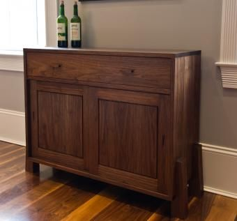 Custom Made Buttressed Wine Cabinet