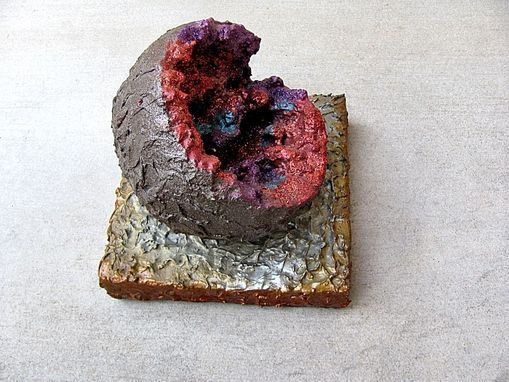 Custom Made Red Geode Sculpture