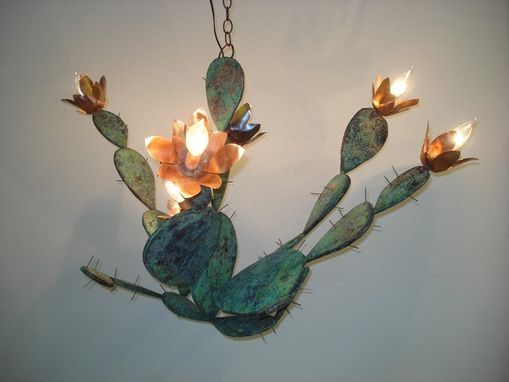 Custom Made Copper Cactus Chandelier