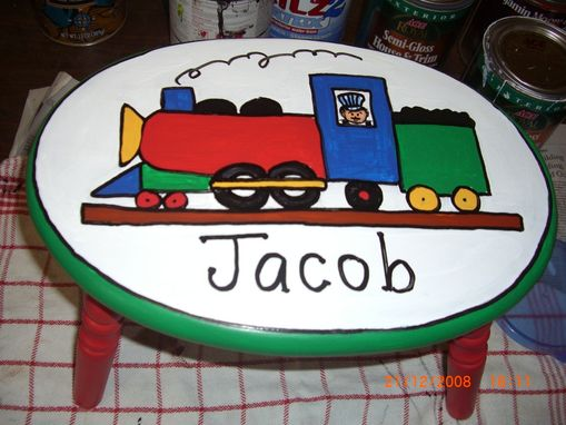 Custom Made Handpainted Stools