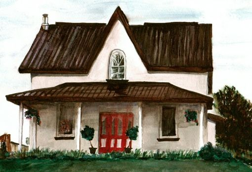Custom Made 8 X 10 Watercolour Home Painting
