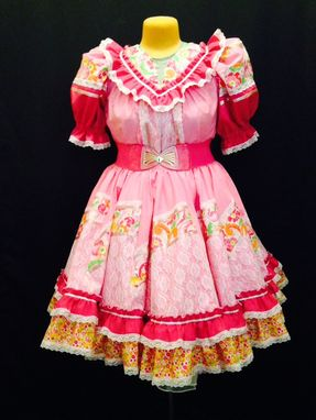 Custom Made Square Dancing Skirt And Blouse