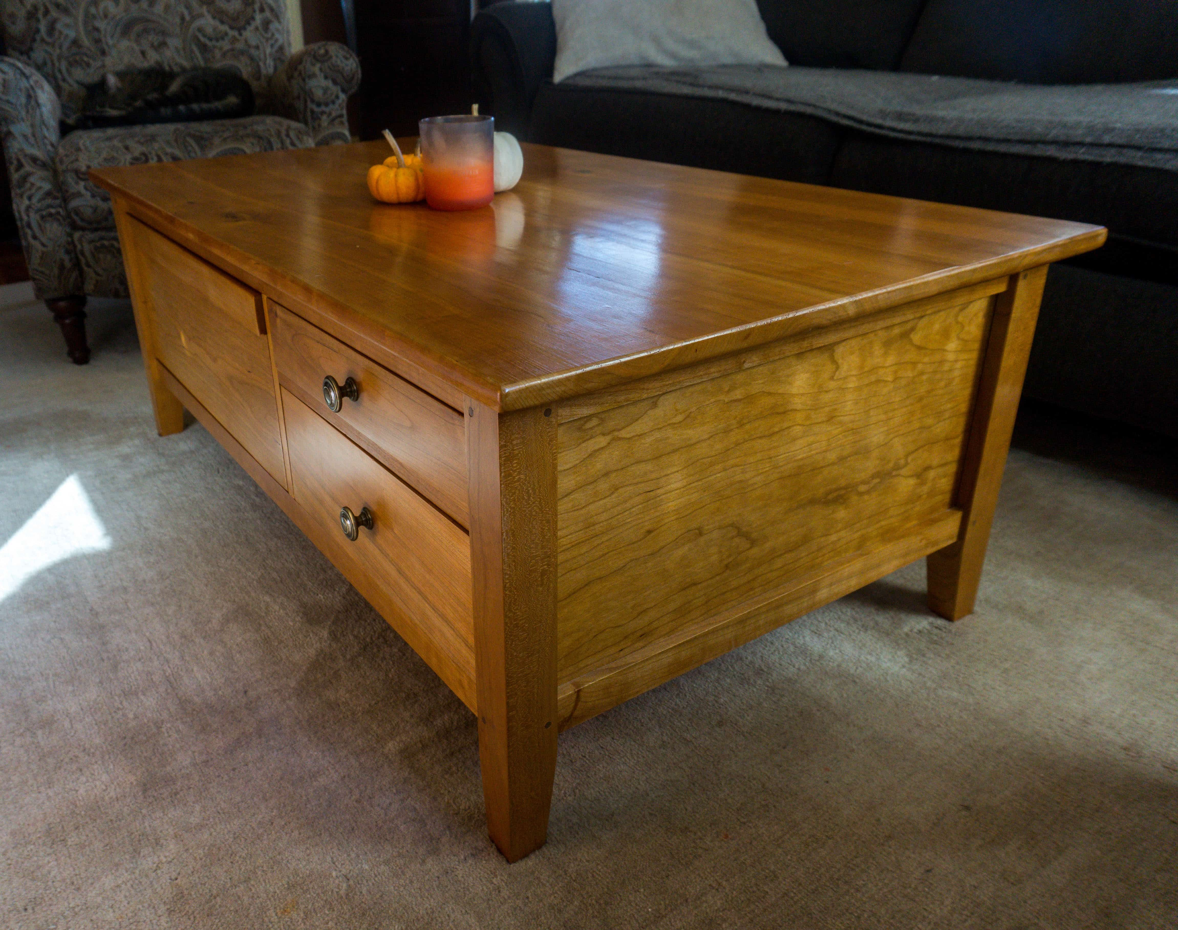Handmade Cherry Coffee Table By Ctc Woodworking Custommade