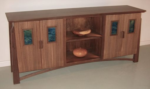 Custom Made Walnut Sideboard/Display Cabinet