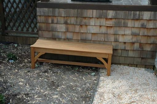 Custom Made Custom Cedar Bench