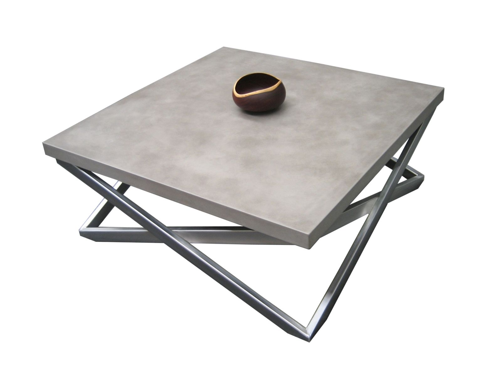 Custom mobius concrete coffee table by trueform concrete for Concrete coffee table