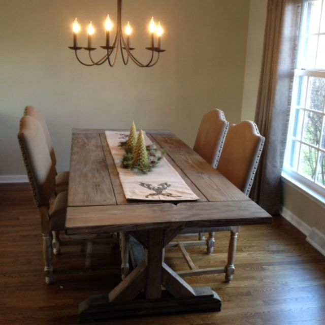 Buy A Hand Crafted Fancy X Farmhouse Table With Extensions - Light wood extending dining table