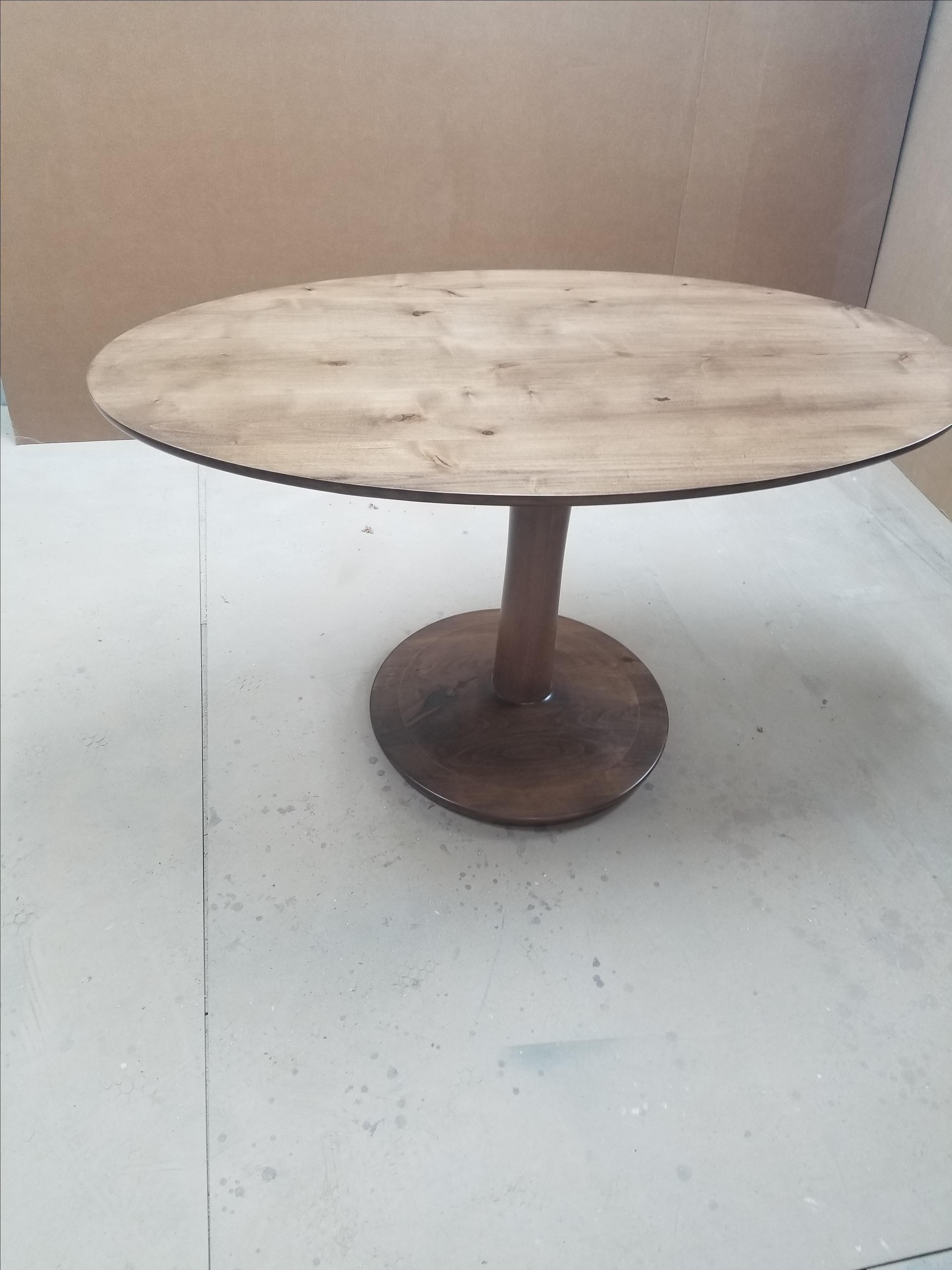 Handmade Custom Oval Dining Room Table In Knotty Alder By Kirk Kreations Custommade Com