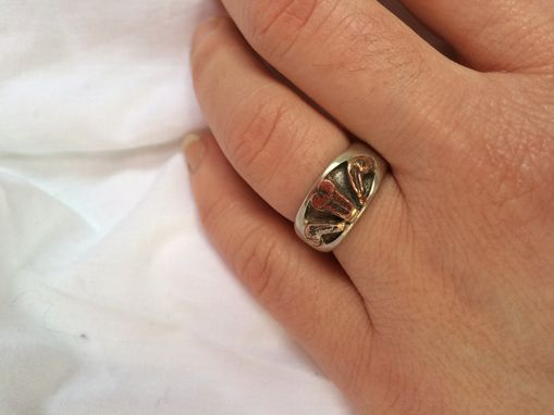Custom Made Silver Coin Ring