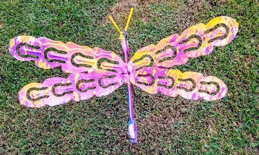Custom Made Upcycled Junk Art Dragonfly Stake