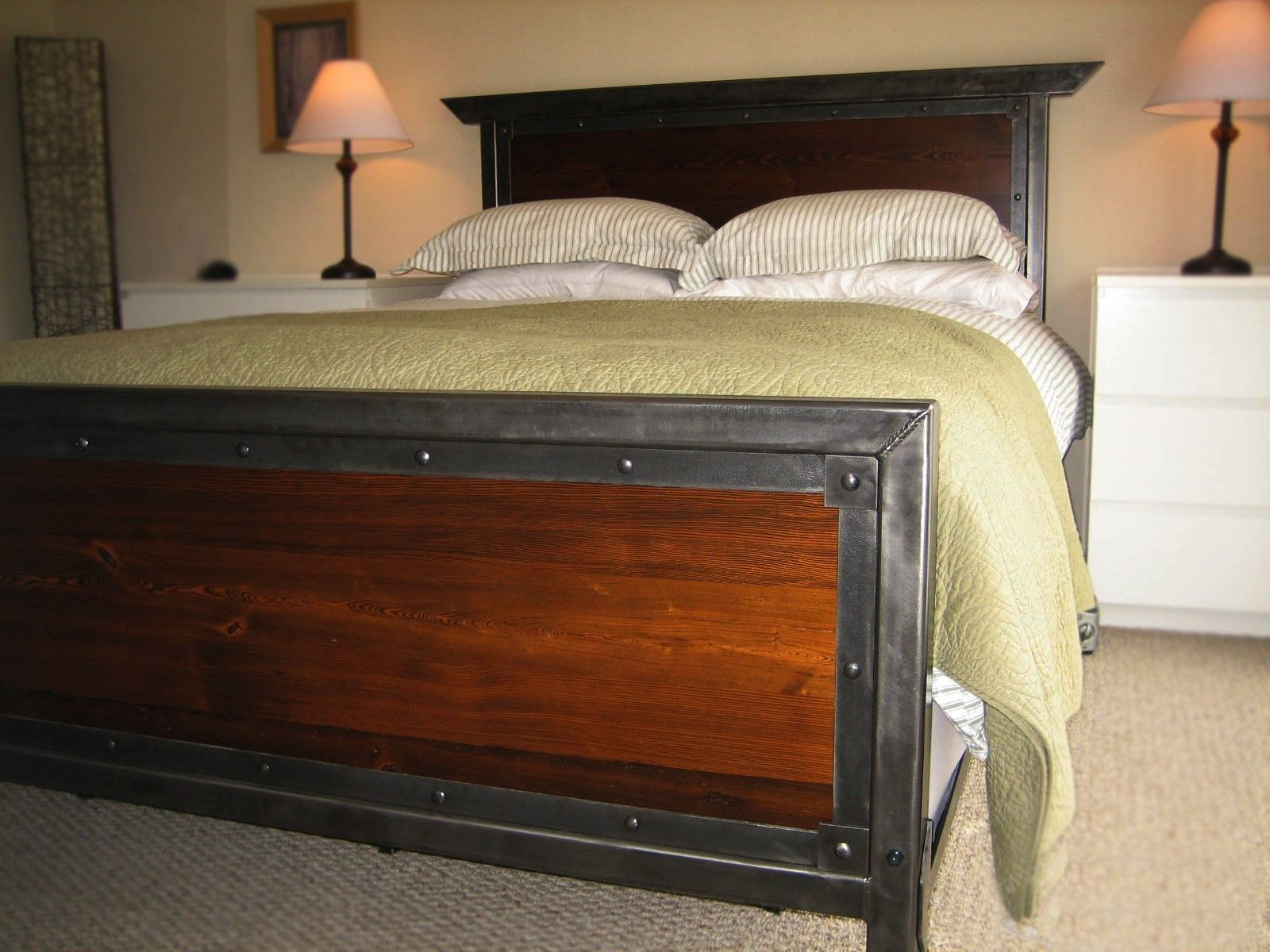 Handmade Iron Queen Size Bed By Desiron Custom Metal