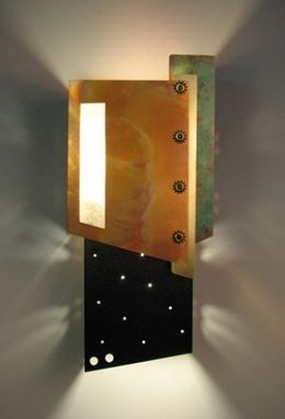 Custom Made Metal Light Sconce