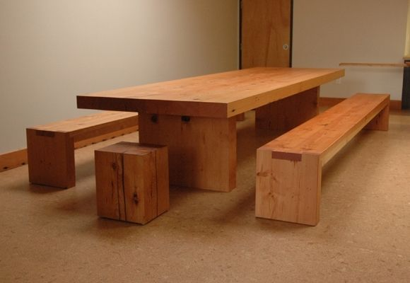 Custom Made Reclaimed Fir Community Room Table By Jonathan A - Community table furniture