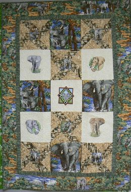 Custom Made Custom Elephant Quilt