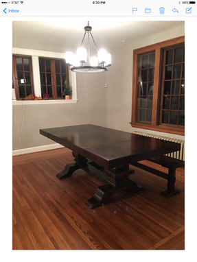 Custom Made Double Pedestal End Extension Dining Table