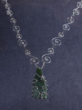 Custom Made Wyoming Jade Pendant In Sterling Silver