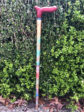 Custom Made Handcrafted Wooden Cane.