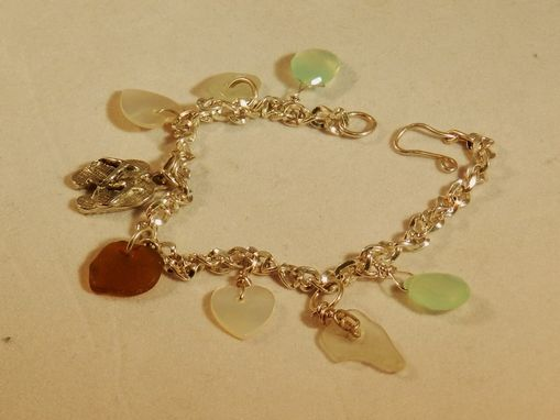 Custom Made Sea Glass Bracelet