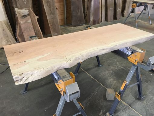 Custom Made Live Edge Vanity Top | Honey Locust