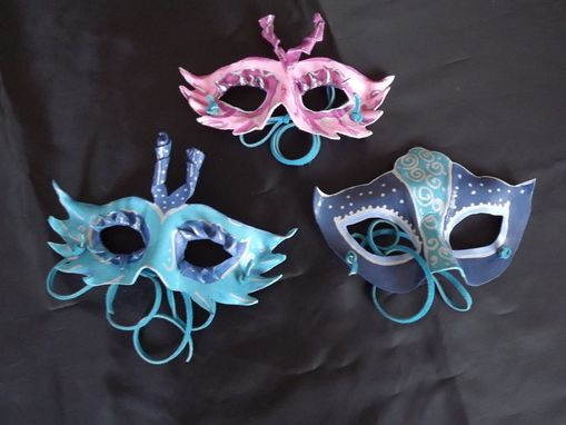 Custom Made Hand Made Leather Mardi Gras Masks