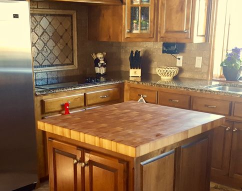 Custom Made Butcher Block Counter Top / Island Cutting Board