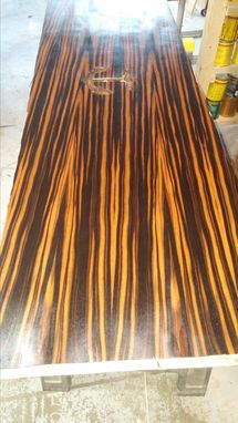 Custom Made Custom Exotic Wood Tables, Conference Tables, Counters, Desk Tops Or Shelving