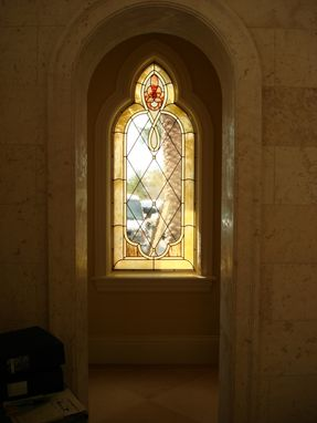 Custom Made Stained Glass Window Treatments To Coordinate Site Specific Architectural Details Throughout This Custom Home