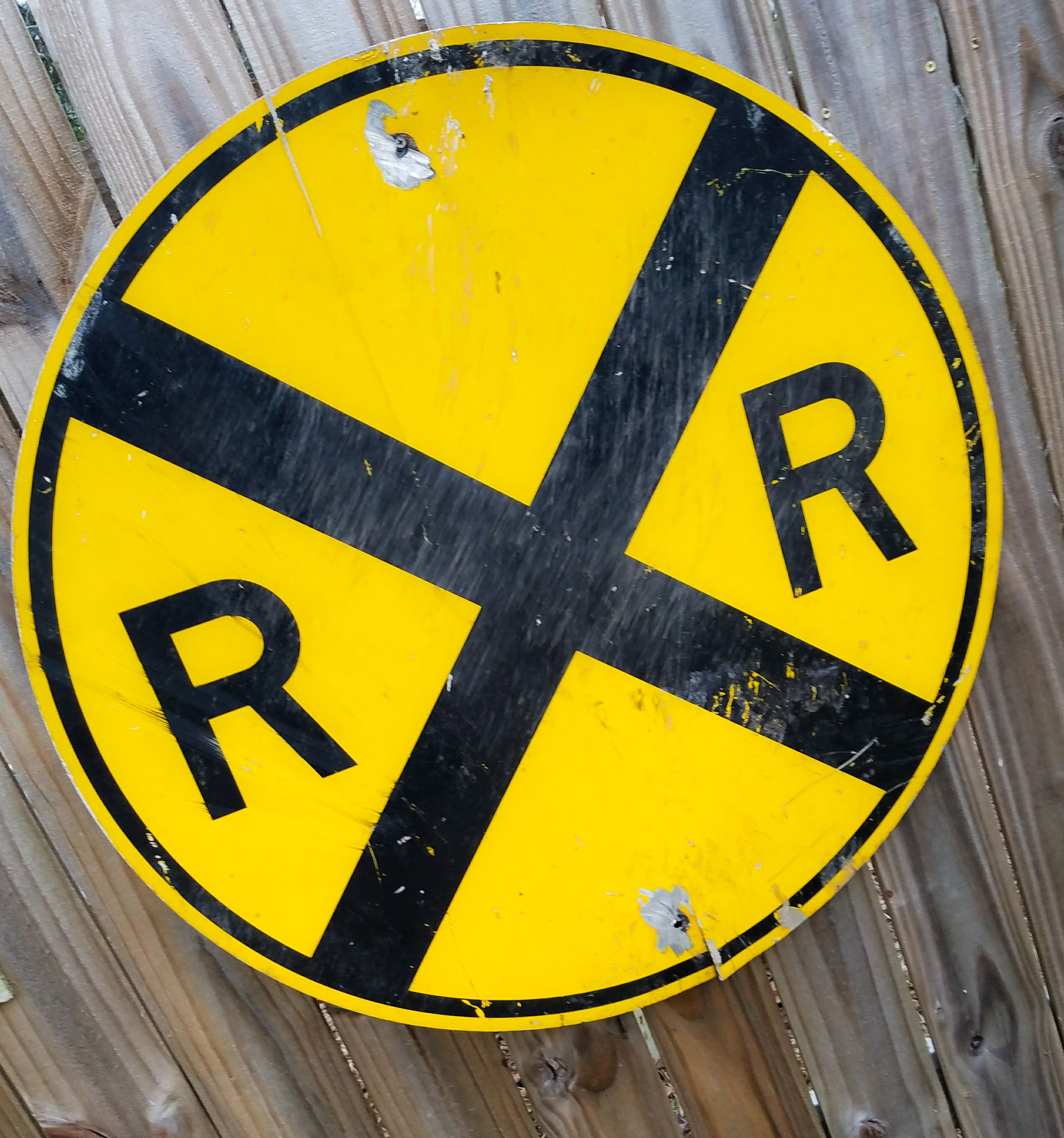 Buy a Hand Crafted Vintage Rail Road Crossing Sign, made to