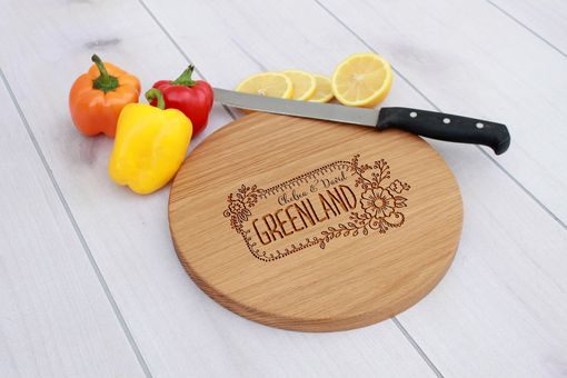 Custom Made Personalized Cutting Board, Engraved Cutting Board, Custom Wedding Gift – Cbr-Wo-Greenland