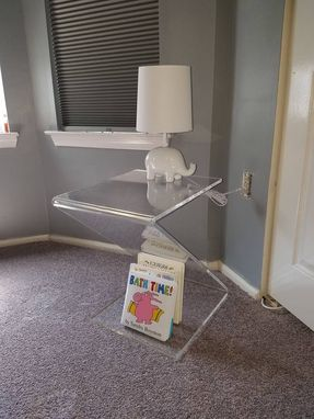 "Custom Made Acrylic Side / End Table ""Z"" Style - Hand Crafted, Made To Order"
