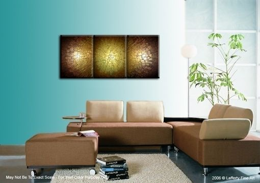 Custom Made Original Abstract Gold Painting, Palette Knife Art, Original Bronze Metallic, Textured Impasto