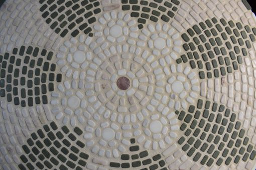 Custom Made Mosaic Table Top / Natural Stone & Cement