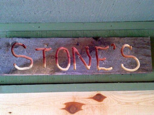 Custom Made Custom Sign In Repurposed Barn Wood