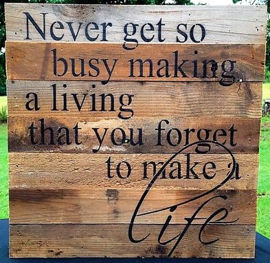 Custom Made Pallet Wood Wall Art With Custom Qoute