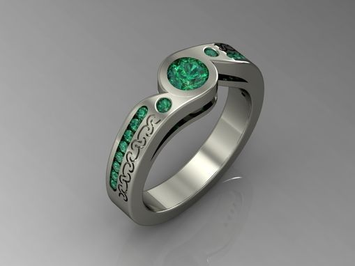 Sapphire And Emerald Engagement Ring!