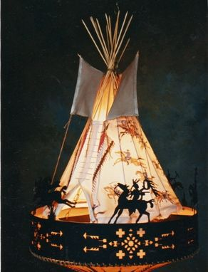 Custom Made Tipi Chandelier/ Ceiling Light Fixture: Victory Ride.