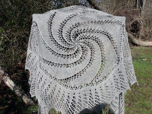 Custom Made Knitted Cashmere And Silk Shawl