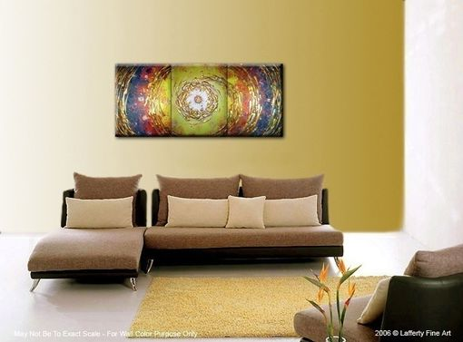 Custom Made Abstract Painting, Original Art,Gold Metallic Textures,Hurricane Cyclone Painting, Red Yellow Storm