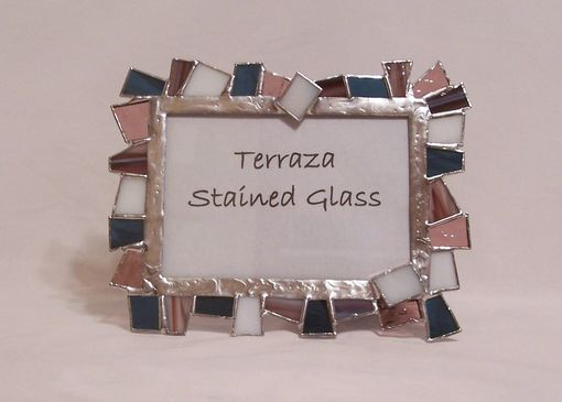 Custom Made Champaign Blue Picture Frame (F-7)