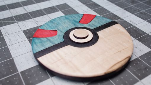 Custom Made Four Wooden Pokeballs
