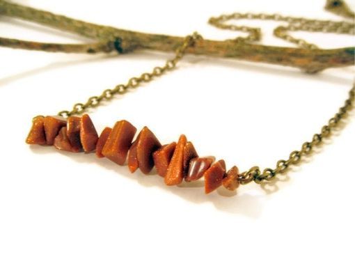 Custom Made Goldstone Row Necklace